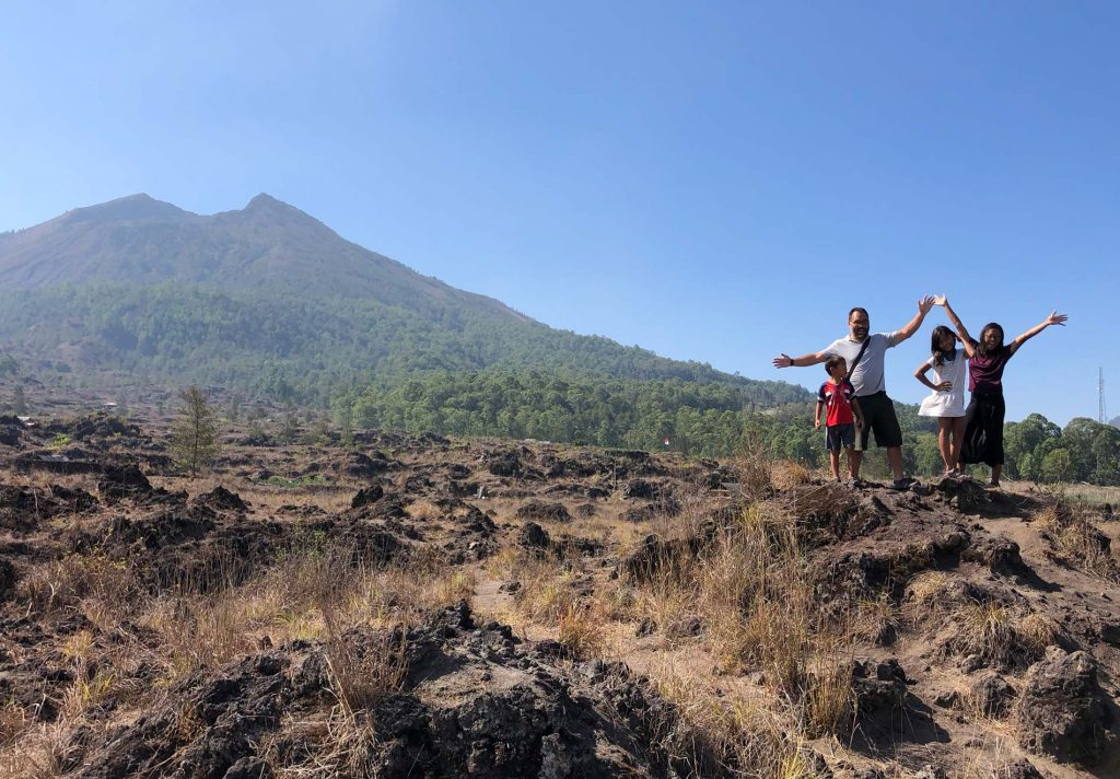 Vinje Bush family at Mount Batur in Bali Indonesia